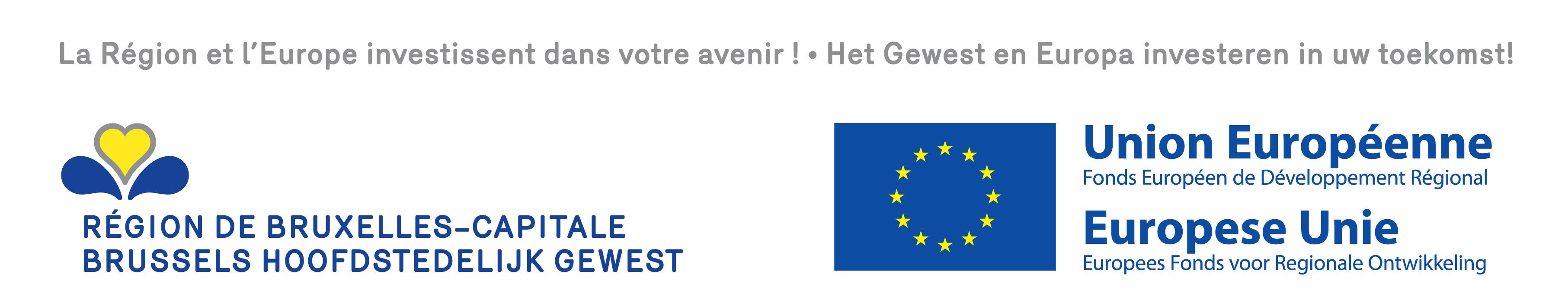 Logo des projets subventionnés par le FEDER et la Région de Bruxelles-Capitale