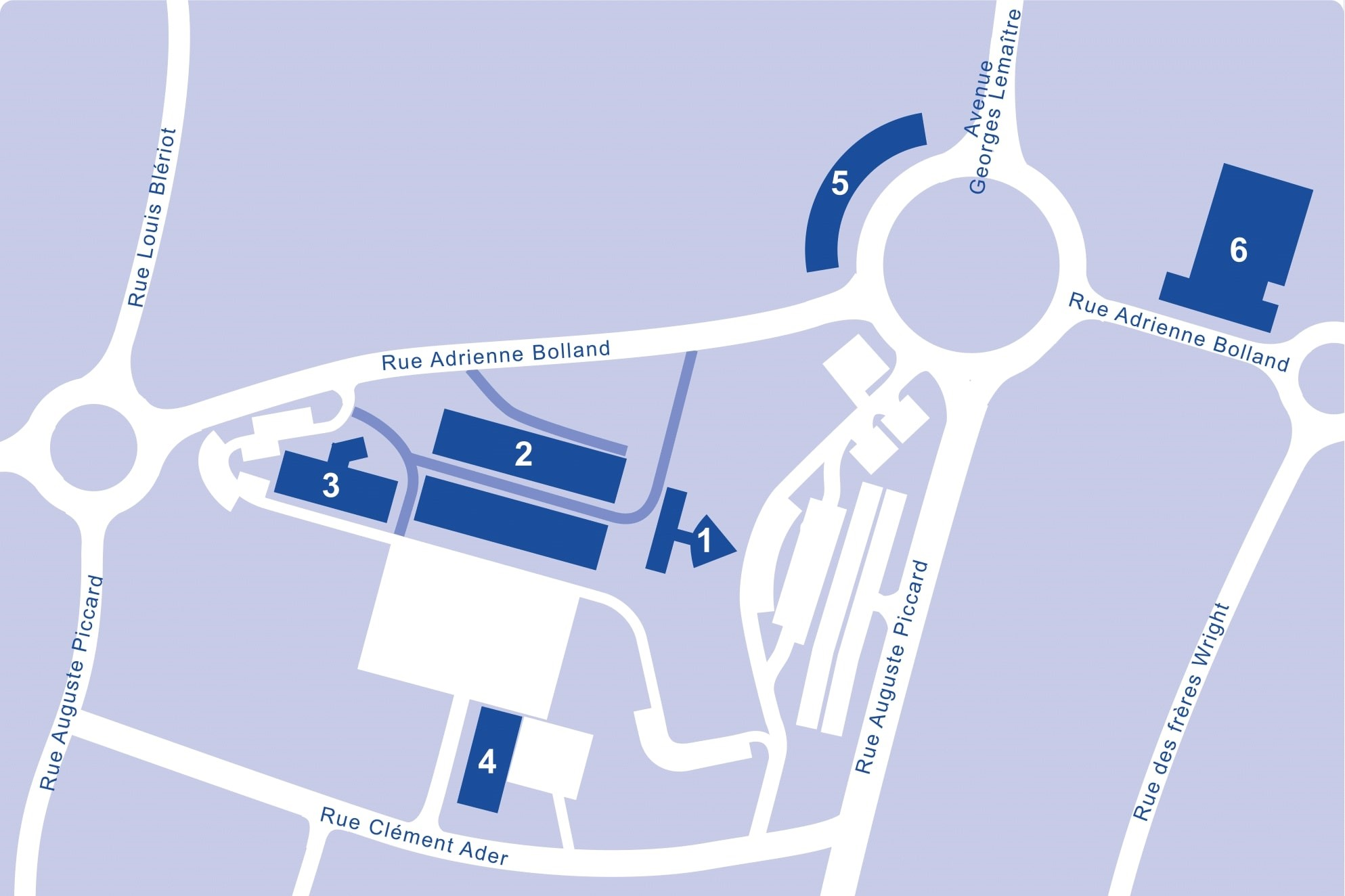 Plan du campus Gosselies